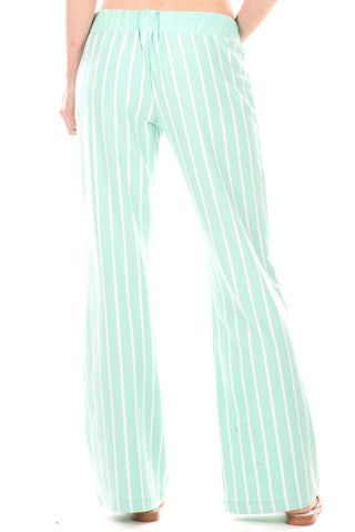 Peninsula Pants in Mint Stripes