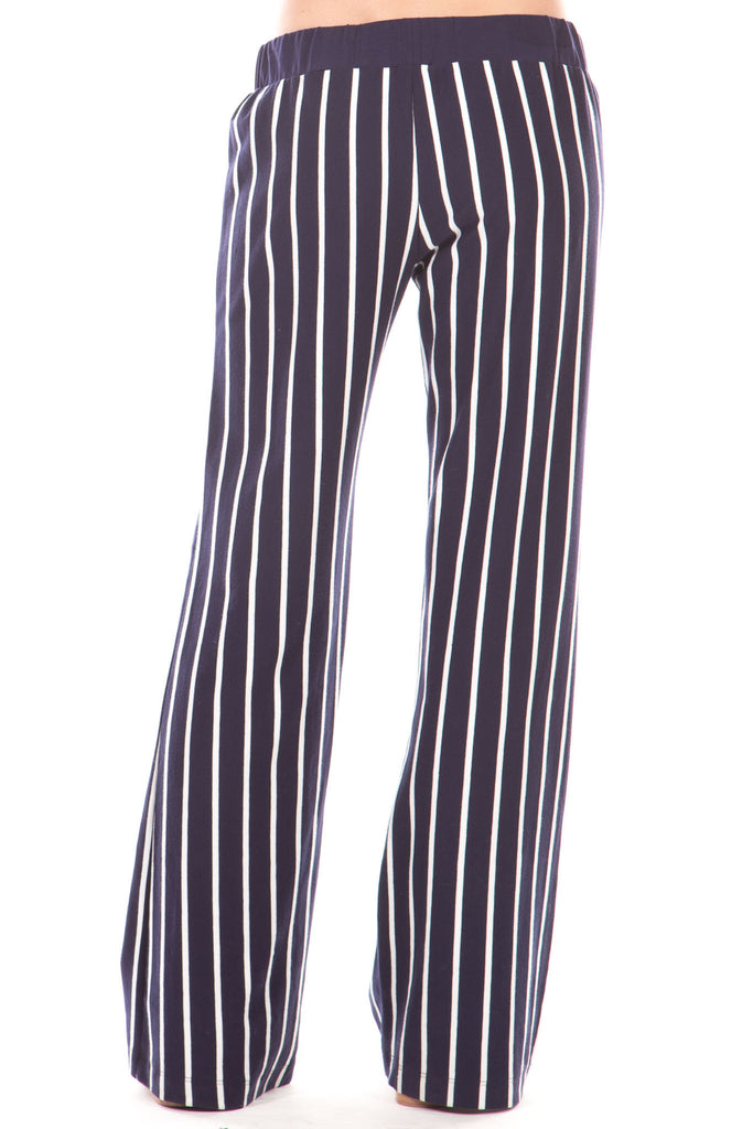 Peninsula Pants in Navy Stripes