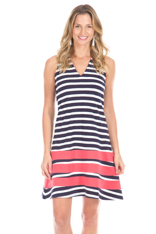 Clare Tank in Navy Stripes