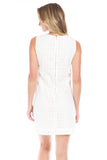Charlotte Shift Dress in White Eyelet
