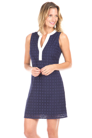 Robinson Dress in Navy Stripes