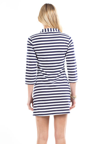 Spring Lake Dress in Navy Stripes