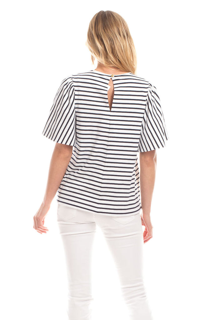 Decker Top in Navy with White Stripes