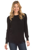 Fulton Fringe Cashmere Blend Sweater in Black