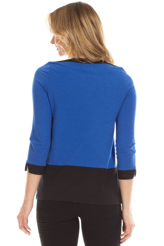 Howell Top in Cobalt with Black