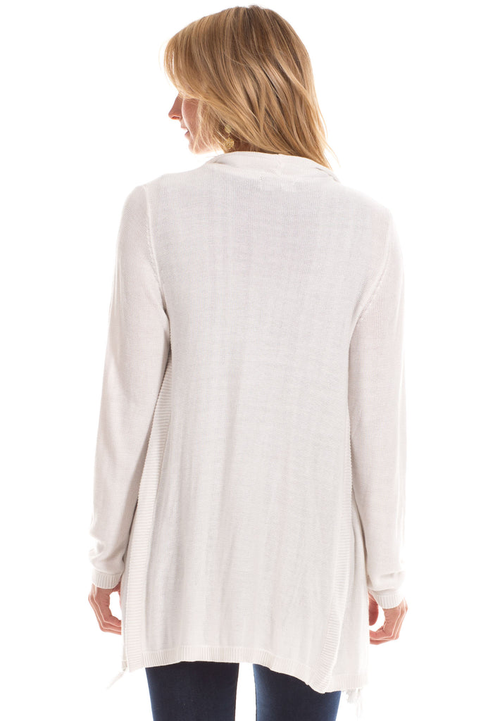 Ashley Silk Blend Sweater in White