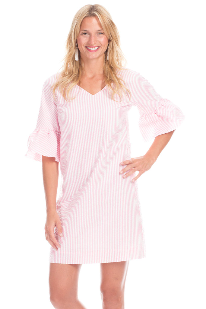 Richland Ruffle Sleeve Dress in Pink
