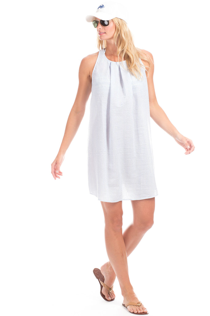 Clayton Coverup in Blue with White