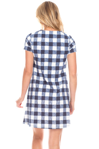 Adams Dress in Gingham