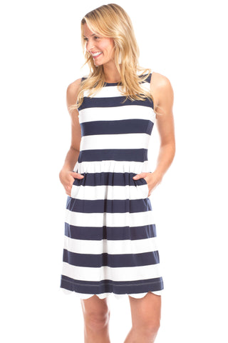 Monroe Dress in Navy