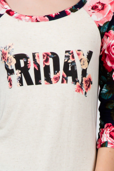 Floral Friday Tee Top