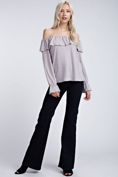 Off the shoulder linen top