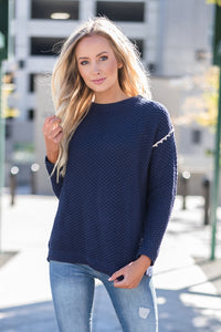 Back Slit Knit Sweater