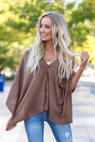Wrap Me Up Poncho Mocha