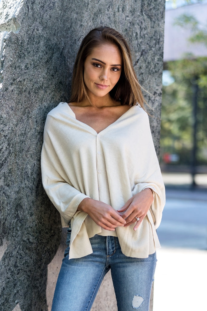 Wrap Me Up Poncho Ivory