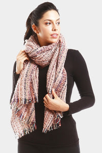 Sprinkle Striped Scarf Pink