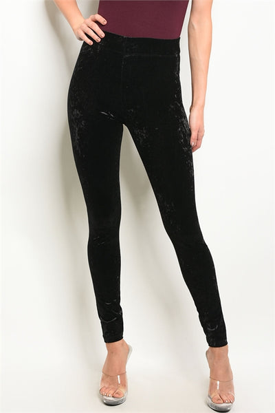 Velvet Leggings Black