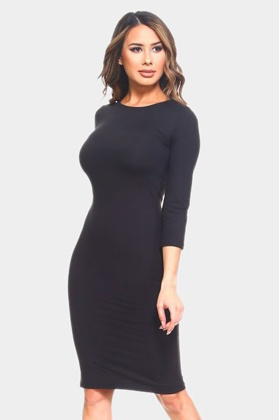 Perfect Midi Dress Black