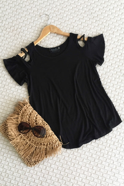 Cold Shoulder Strap Top
