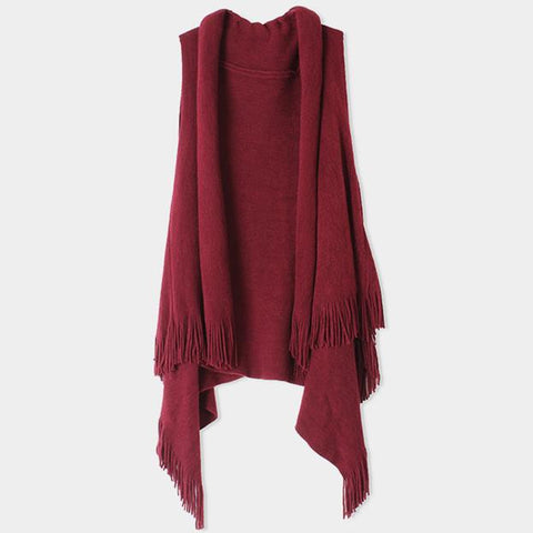Supersoft burgundy vest