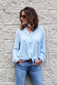 Babe Knot Top Blue
