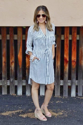 Breezy striped dress