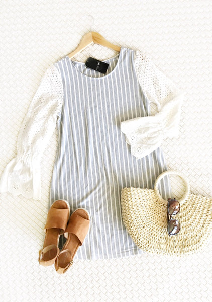 Striped heather dress