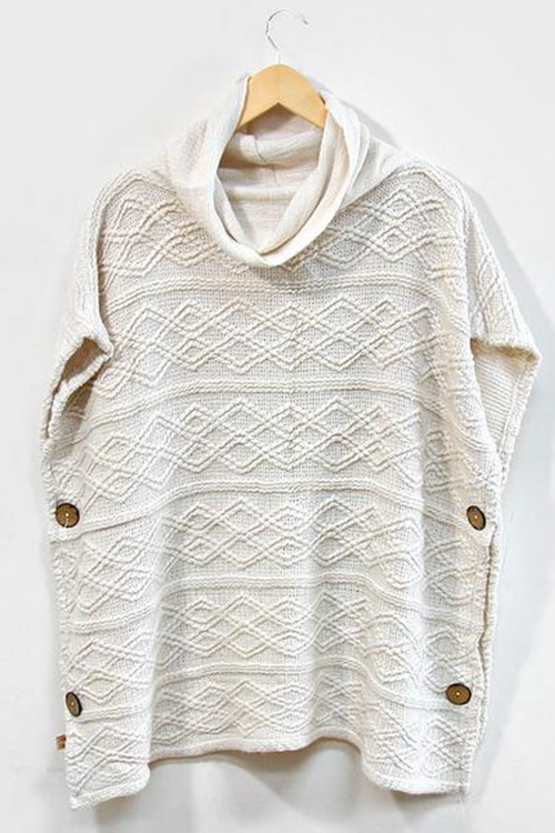 Side Button Poncho