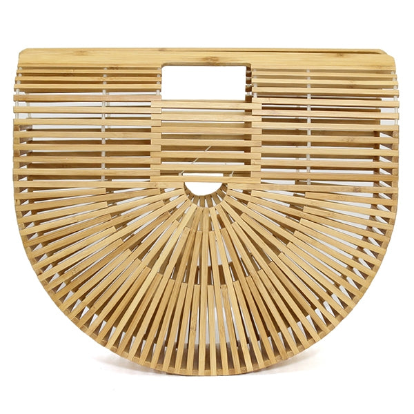 Large Bamboo Basket Bag