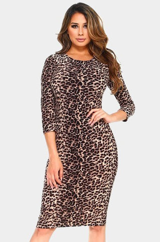 Perfect Midi Dress Leopard