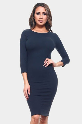 Perfect Midi Dress Navy Blue