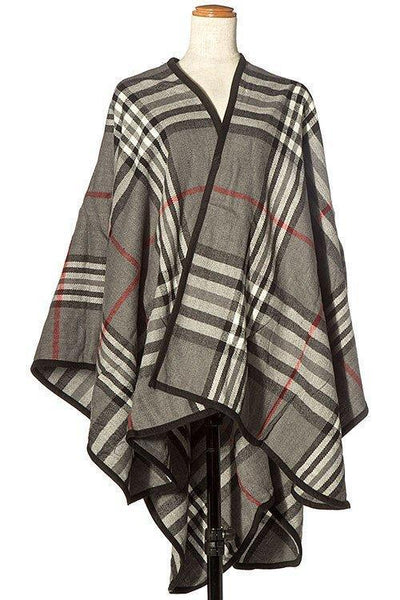 Mad for Plaid Wrap Gray