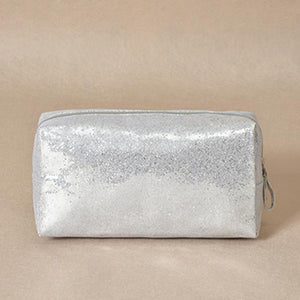 Sparkle cosmetic bag - silver