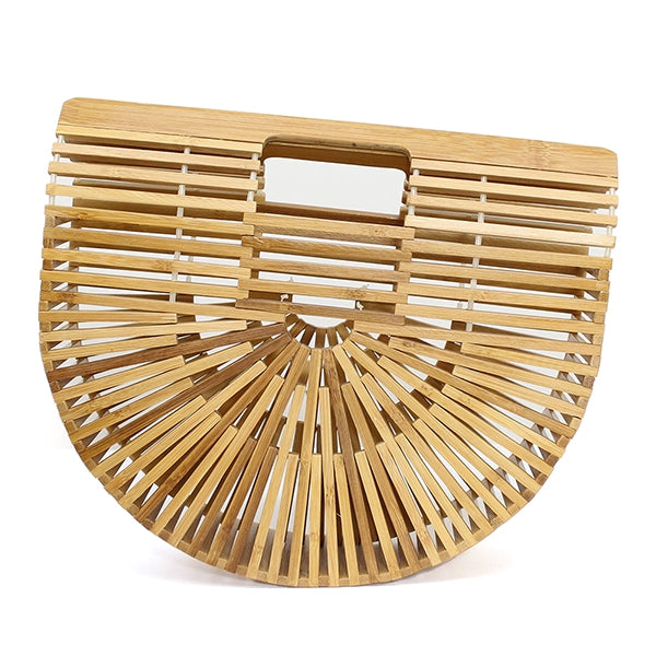 Small Bamboo Basket Clutch Bag