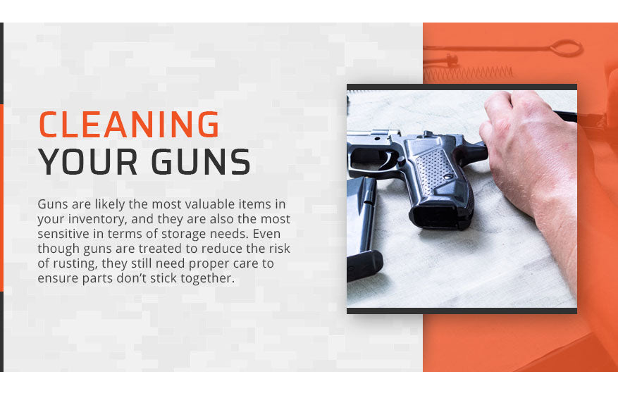 cleaning your guns