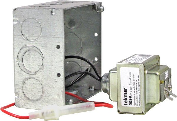 Tekmar 009K   24 V (ac) Transformer Kit – 40 VA, includes mounting box