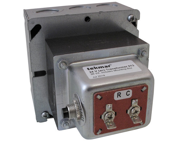 Tekmar 013   24 V(ac) Transformer - 96 VA, includes mounting box