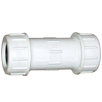 "Webstone 3301   3/8"" PVC COMPRESSION COUPLING WHITE"