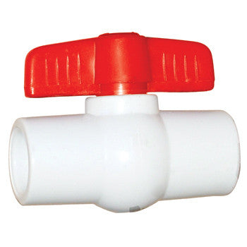 "Webstone 03725   1-1/4"" SOCKET FULL PORT CPVC BALL VALVE"