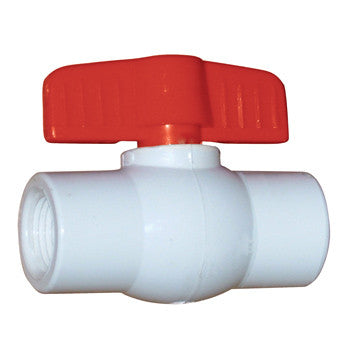 "Webstone 03924   1"" IPS FULL PORT PVC BALL VALVE (WHITE)"