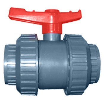 "Webstone 04603   3/4"" TRUE UNION PVC BALL VALVE (IPS OR SOCKET ENDS - GRAY)"