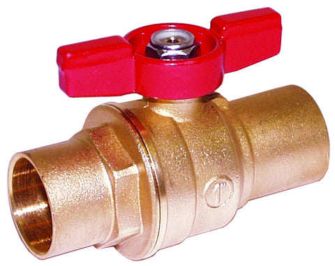 "Legend 101-634   3/4"" Sweat X Sweat S-1001T Full Port Ball Valve With T-Handle"