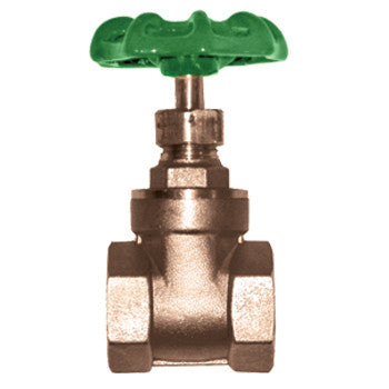 "Webstone 10137   2"" IPS BRASS GATE VALVE HARD SEAT"