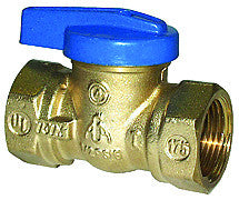 "Legend 102-102   3/8"" Fnpt X Fnpt T-3000 Blue Top One Piece Gas Ball Valve"