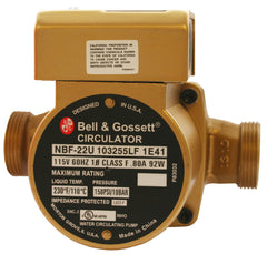 Bell & Gossett 103255LF Lead Free Bronze NBF-22U Wet Rotor Circulator