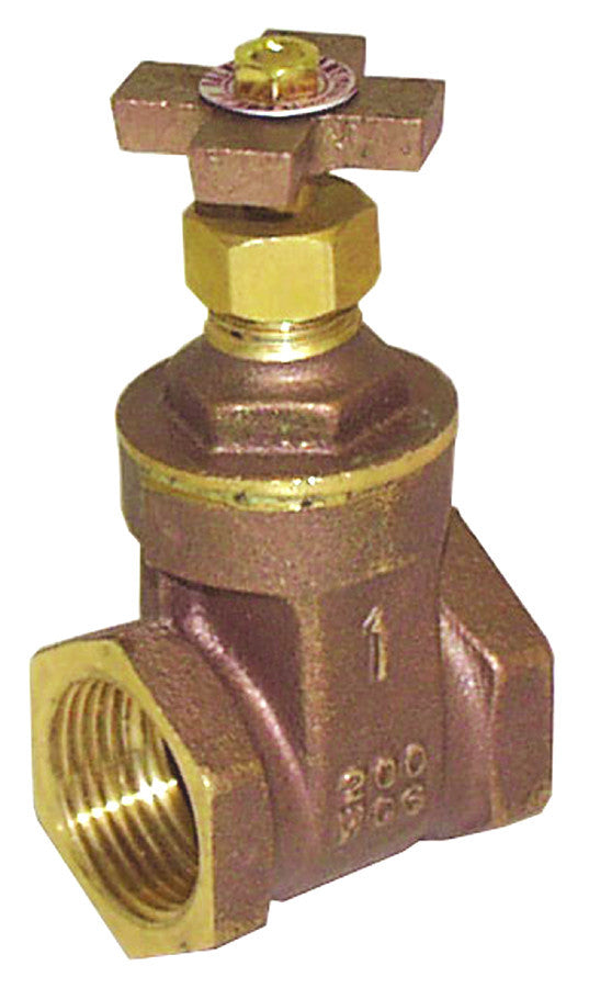 "LEGEND 104-735 BRASS  1"" FNPT x FNPT  T-408X CROSS HANDLE GATE VALVE"