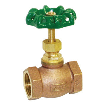 "Webstone 10406   1-1/2"" IPS BRASS GLOBE VALVE HARD SEAT"