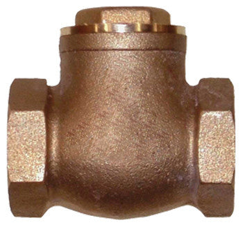 "Webstone 10525   1-1/4"" IPS BRASS SWING CHECK VALVE SOFT SEAT"