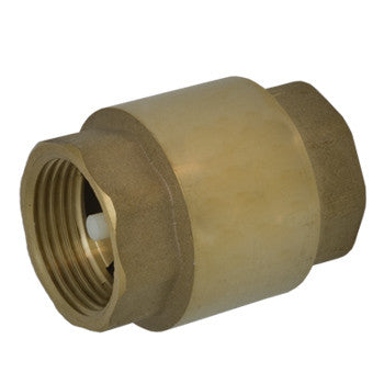 "Webstone 10705W   1-1/4"" IPS LEAD FREE BRASS IN-LINE SPRING CHECK VALVE 316 STAINLESS STEEL SPRING - CELCON POPPET - SOFT SEAT"