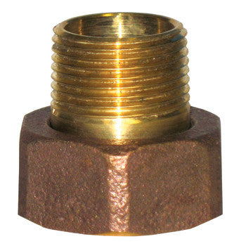 "Webstone 11533-T   3/4"" FIP x MIP BRASS UNION TAILPIECE & NUT FOR RADIATOR VALVE - GROUND JOINT CONNECTION"